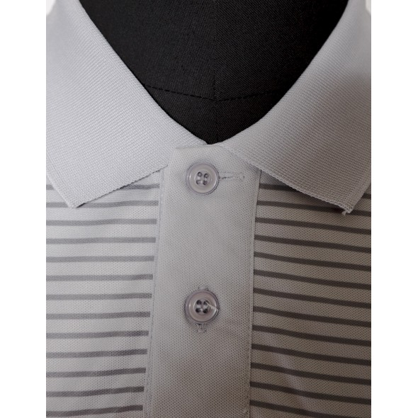 Polo-Grey-Brodé
