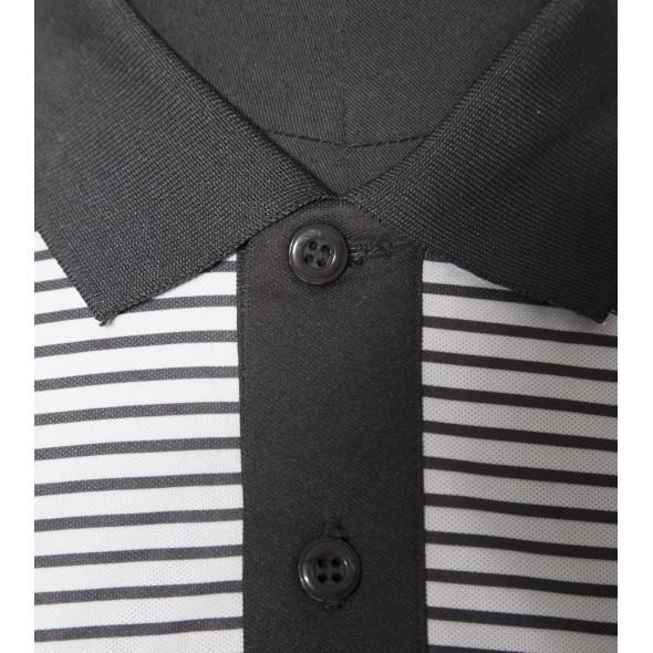 Polo-Noir-Brodé