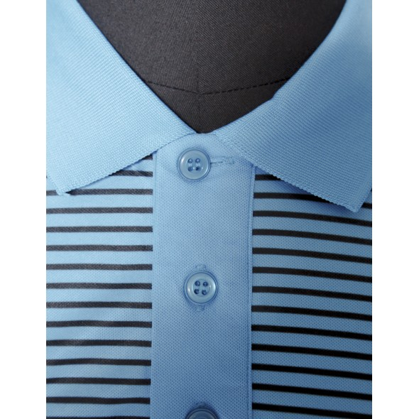 Polo Bleu Brodé